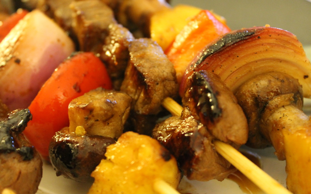 Asian Marinated Beef and Veggie Kabobs