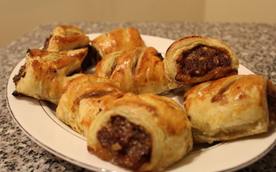 How to Make Sausage Rolls with Sharp Cheddar and Caramelized Onions